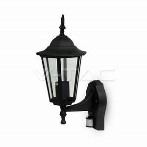 Lampe Mit Sensor : led garten pool garten wand lampe mit sensor e27 matt schwarz ~ Watch28wear.com Haus und Dekorationen