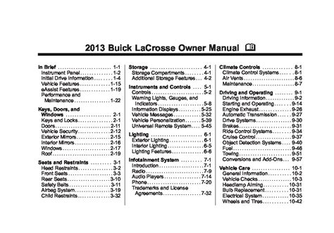 2007 Buick Lacrosse Owners Manual by 2013 Buick Lacrosse Owners Manual Just Give Me The Damn