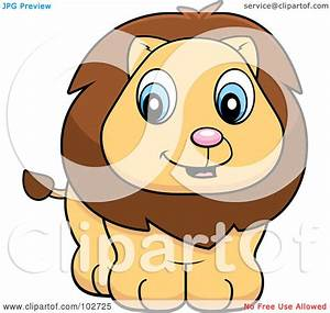 Royalty-Free (RF) Clipart Illustration of a Baby Lion Cub ...