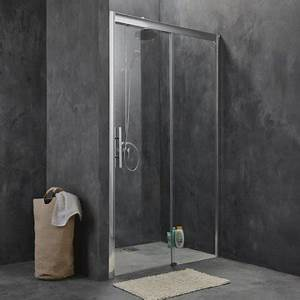 porte de douche coulissante 140 cm transparent adena With porte douche 140 cm