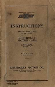 1928 Chevy Owner U0026 39 S Manual