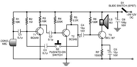 simple walkie talkie circuit diagram pdf elektronika