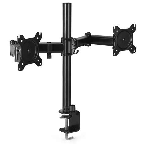 desk mount arm for flat panel monitor dual monitor mount desk stand adjustable arm tilt swivel