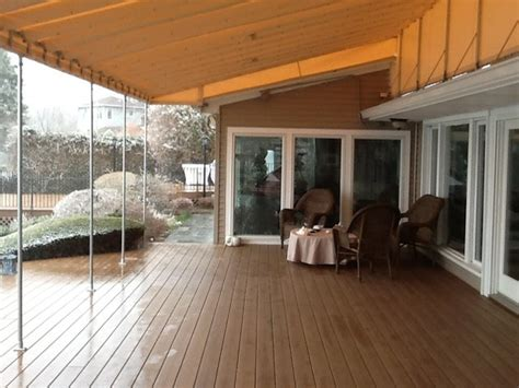 fixed pipe frame patio awning