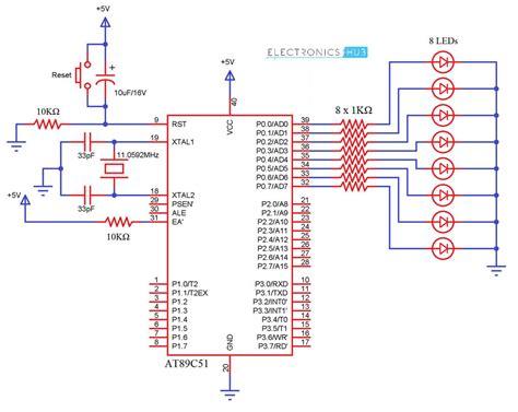 Interfacing Led With Microcontroller Circuit