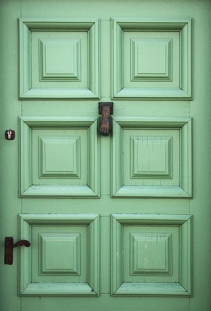 beautiful front doors free photo green door exterior entrance free image on
