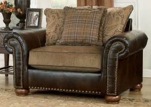 leather with fabric seat cushions search
