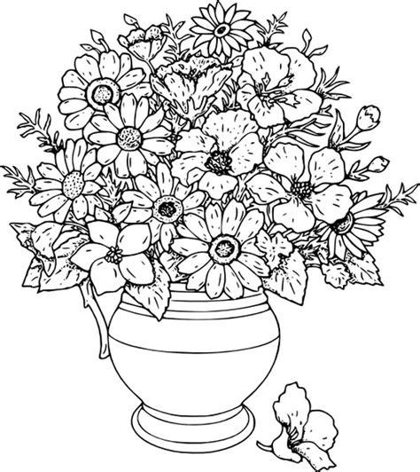 flower vase coloring beautiful flower vase coloring page coloring sky