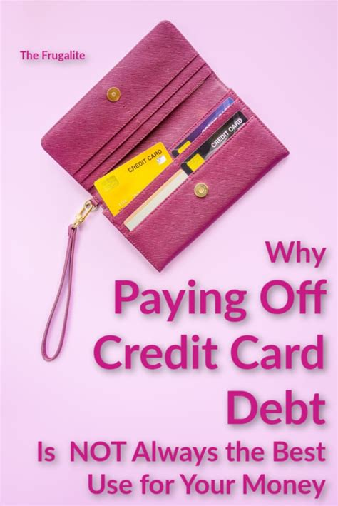 Credit card debt can be overwhelming. Why Paying Off Credit Card Debt Is NOT Always the Best Use for Your Money - The Frugalite