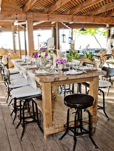 Villa Montana Beach Resort Reception Table Decor