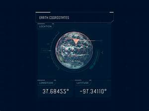 Animated Gif Designer Earth Coordinates By Clément Pavageau Dribbble Dribbble