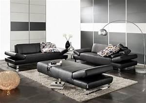 Canapé Cuir Design : canap cuir design 2 places longrun ~ Voncanada.com Idées de Décoration