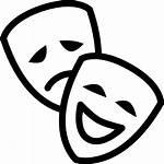 Mask Theatre Icon Masks Sad Happy Side