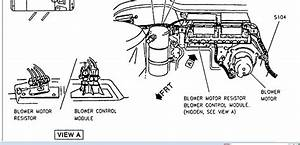 Schematics And Diagrams  1995 Cadillac Deville  Location Diagram For Blower Motor Resistor