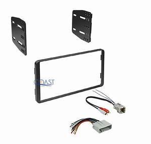 Car Stereo Radio Double Din Dash Kit W   Harness For 2004
