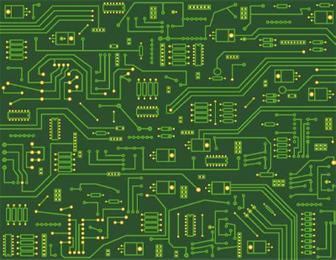Electronic Circuit Board Art Template