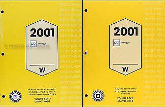 car repair manual download 2001 oldsmobile intrigue spare parts catalogs 2001 oldsmobile intrigue repair shop manual original 2 volume set