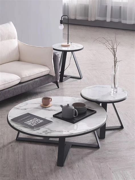 Accent your living room with a coffee console sofa or end table. Marble Round Coffee Table • Nadears Modern Furniture