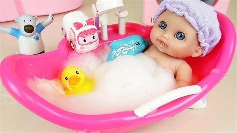 Baby Doll Bath With Dolphin And Poli Toys More Kinder Joy