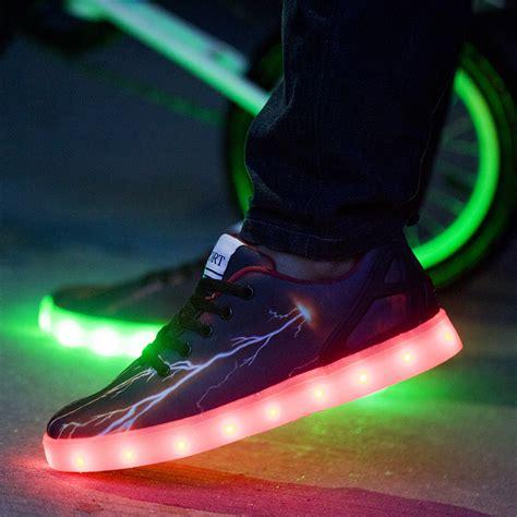 led light up shoes mens lightning pulsar led light up shoes black