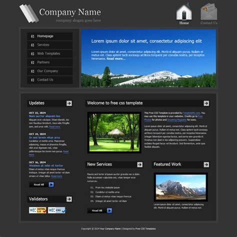 Html Templates 50 Free Css X Html Templates Noupe