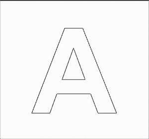 Letter a stencil cut out search results calendar 2015 for Capital letter stencils