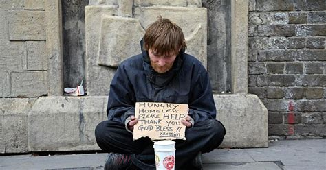 Poor Person Begging
