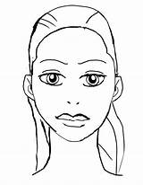 Coloring Face Pages Makeup Blank Template Faces Sketch Dessin Printable Deviantart Eyes Print Closed Visage Getcolorings Coloriage Gypsy sketch template