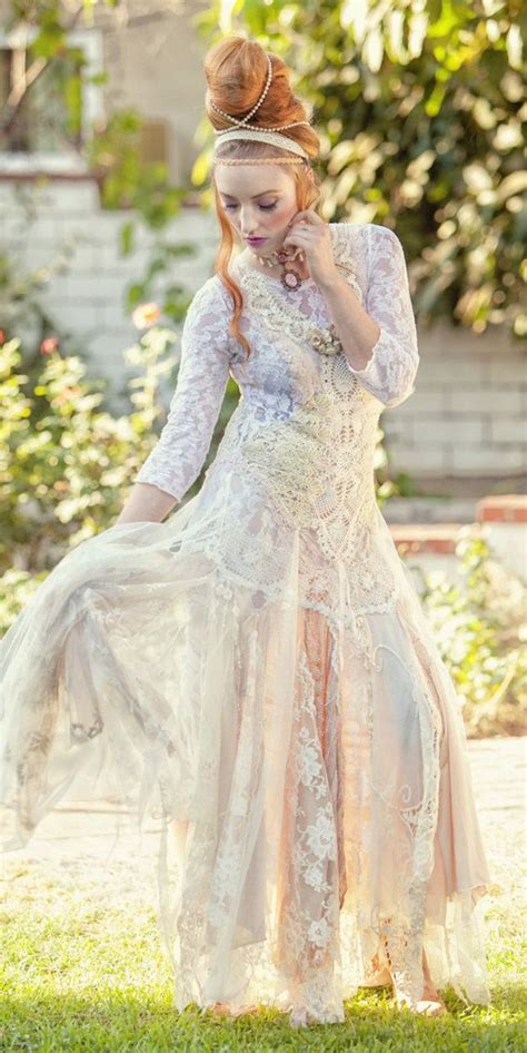 shabby chic wedding attire 13 etsy wedding dress stores whose gowns we fell in love with
