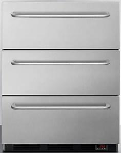 Accucold Spf5dsstb5ada 24 Inch Undercounter Triple Freezer