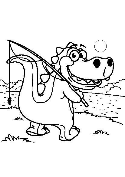 کتاب رنگ آمیزی برای کودکان | مجموعه رنگ آمیزی دایناسور کوچولو - با آموزگار
