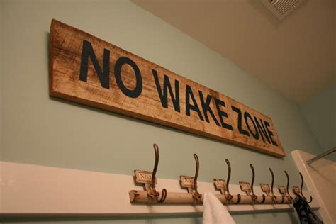 lowcountry lady  wake zone sign  reclaimed wood