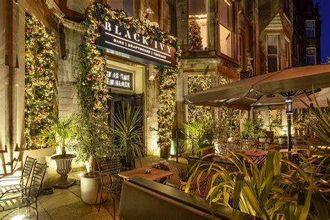 boutique hotel bar  bruntsfield edinburgh black ivy