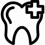 Tooth Icon Outlines Plus Outline Sign Dentist