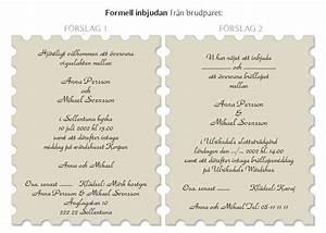 Rolig inbjudan till bröllop