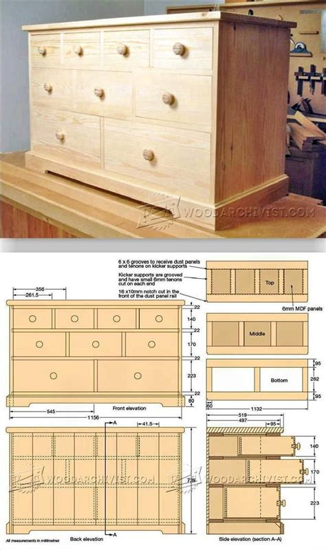 build chest  drawers furniture plans  projects