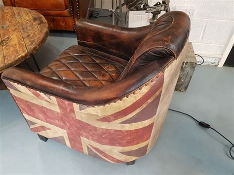 Union Jack Leather Aviator Chair' From Gb Salvage. We