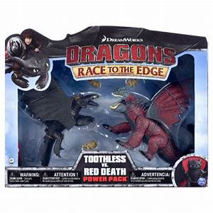 Spin Master Dreamworks Dragons Toothless Vs. Red Death How ...