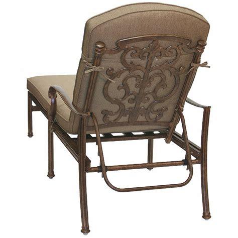 patio furniture chaise lounge cast aluminum santa barbara