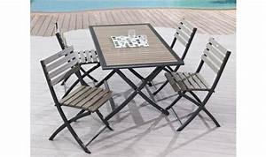 Table De Jardin 4 Personnes : table et chaise de jardin 4 personnes table jardin blanche djunails ~ Teatrodelosmanantiales.com Idées de Décoration