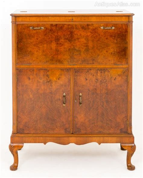 antique cabinets kitchen burr walnut drinks cabinet antiques atlas 1258