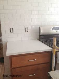 Kitchen Progress Subway Tile And Counters The