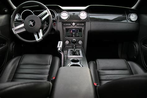 mustang gt interior  added  carbon fiber dash
