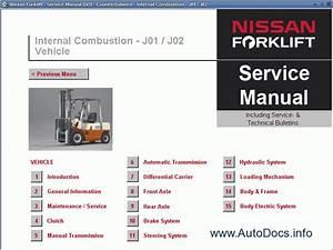 Nissan Forklift Service Manual Repair Manual Order  U0026 Download