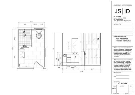 fountain valley ca residence bathroom plan elevation