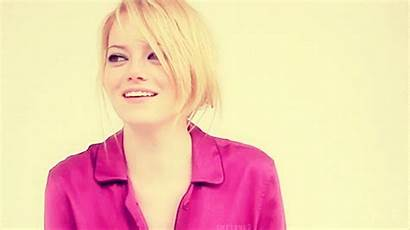 Emma Stone Laughing Pink Gifs Smiling Scene