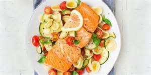 Good Colors For Living Room by Warm Pasta Salad With Salmon Recipe
