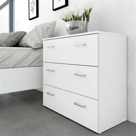 commode pour chambre adulte space commode chambre adulte style contemporain blanc l