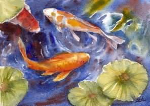 Koi Fish Watercolor Paintings