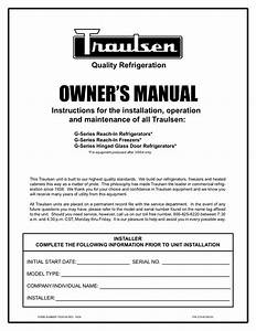 Download Free Pdf For Traulsen G22010 Freezer Manual
